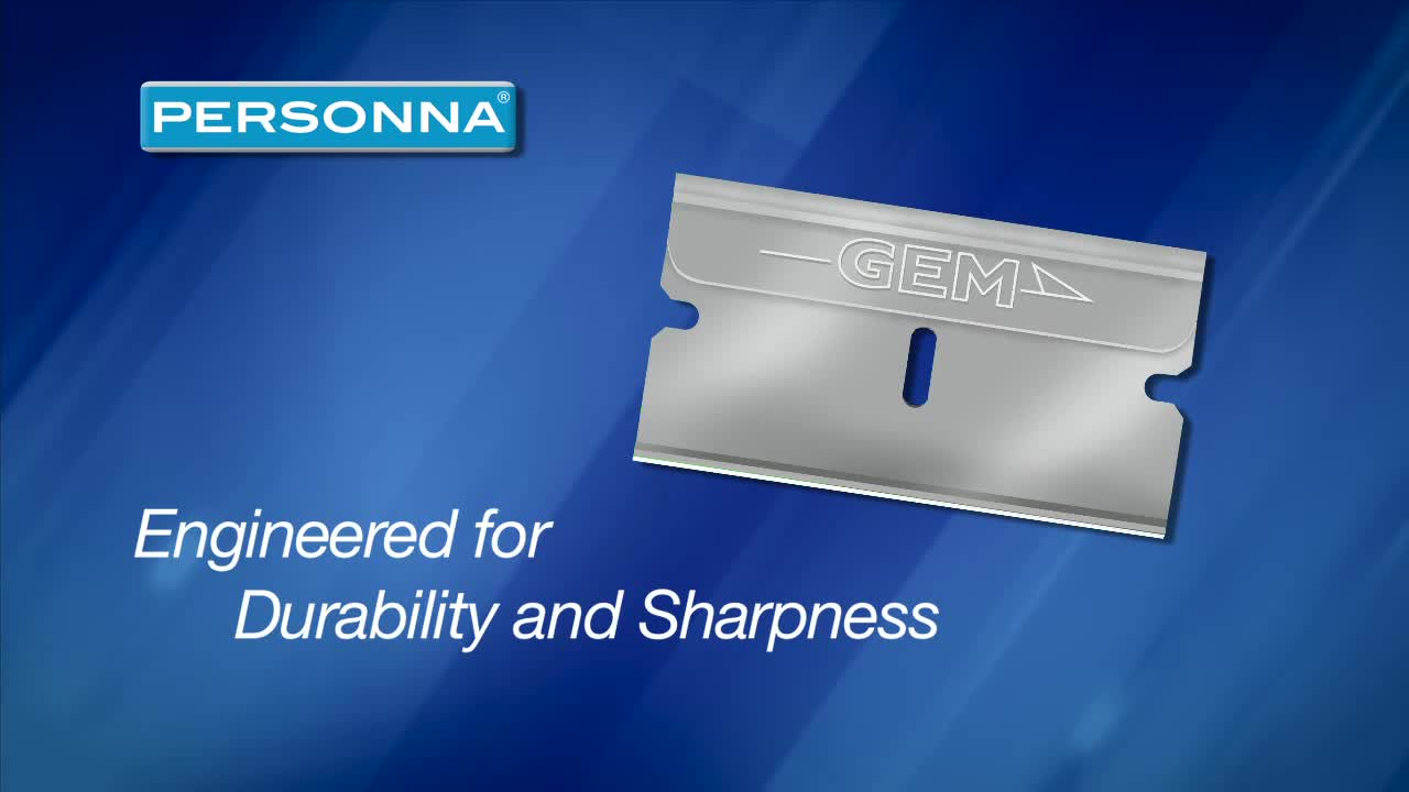 Personna's GEM(R) 3-Facet Single Edge blades are Made in the USA and offer the cleanest cuts for catheter processing, reducing deformation of the material for better productivity. Whether you are processing silicone or any other catheter materials, Personna(R) GEM(R) 3-Facet Single Edge blades deliver, blade after blade. They provide the best cutting edge available in a disposable blade and come in a variety of geometries, materials and coating combinations.