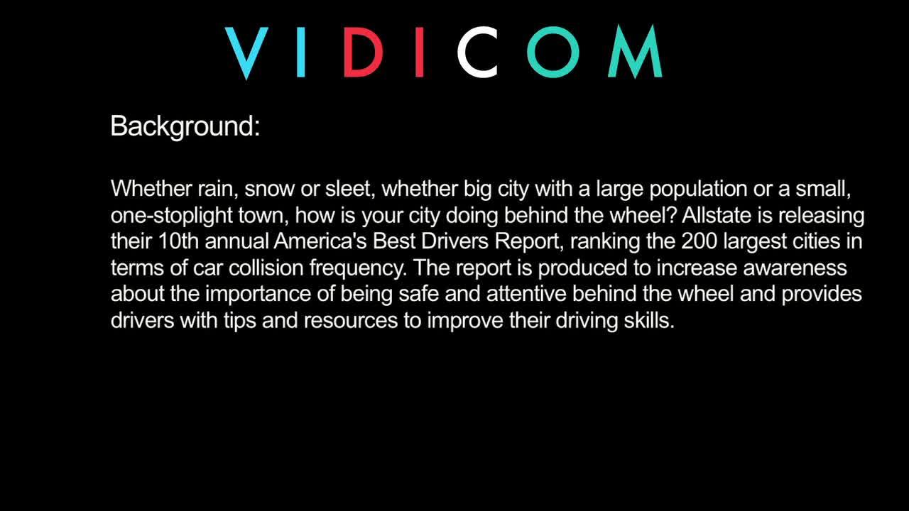 B-roll: Allstate America's Best Drivers Report
