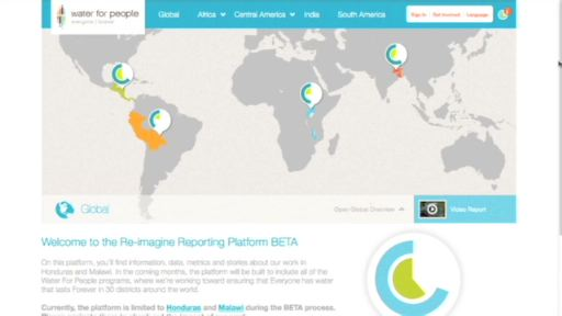 The Re-Imagine Reporting platform provides an interactive, visually compelling way for donors, stakeholders and the public to understand the organization's progress and outcomes.