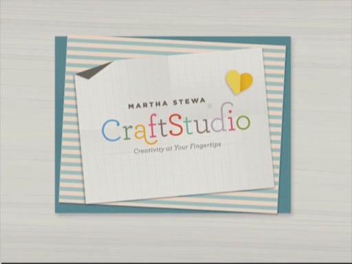 A promotional video of Martha Stewart CraftStudio app