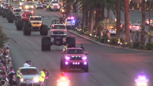 Monster Jam World Finals Champions Celebrate Weekend In Thunderous Procession Down Iconic Las Vegas Strip