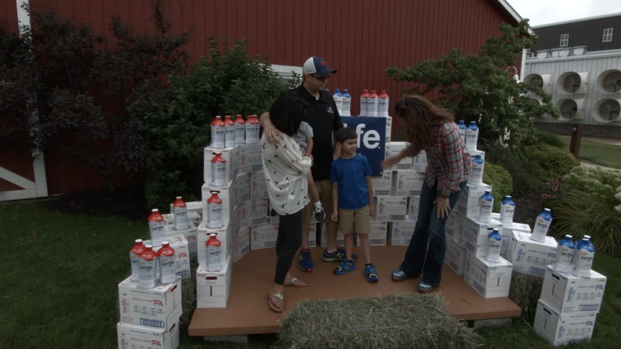 Future football quarterback, Brady Carpenter, visits the fairlife® flagship dairy farm in Fair Oaks, Ind.