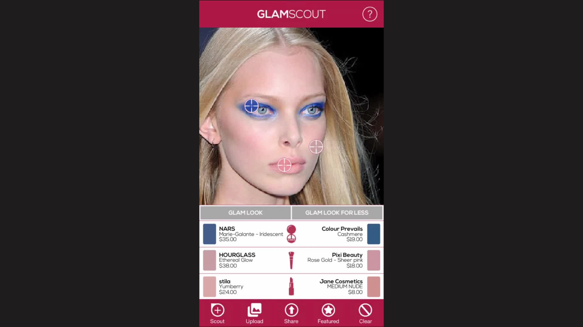GlamScout, FaceCake's Augmented Reality Makeup App for Scouting Full Cosmetic Looks