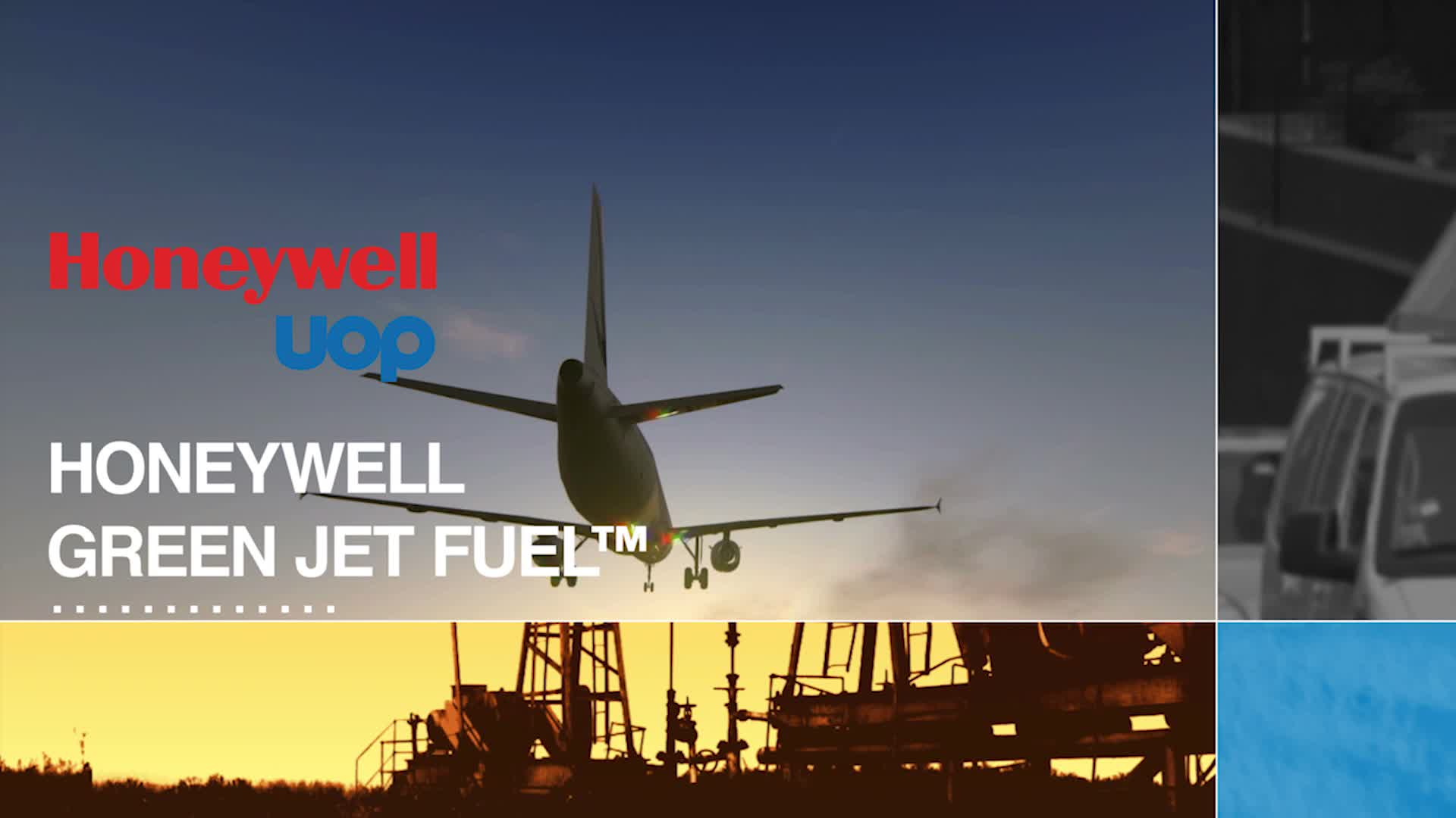 Honeywell Green Jet Fuel -- real, sustainable fuel that reduces greenhouse gas emissions by up to 85%