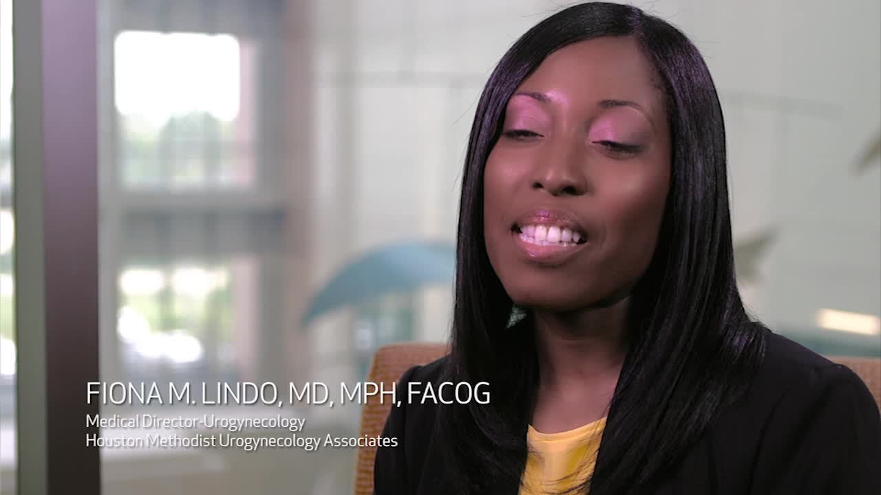 Urogynecologist Dr. Fiona M. Lindo joins Houston Methodist Urogynecology Associates at Houston Methodist Willowbrook Hospital