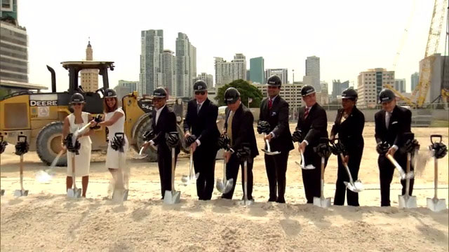 Groundbreaking of Paramount Miami Worldcenter Features Miami-Dade Mayor and Developers Shoveling-In The Signal of First Building to Go Up in America's Second Largest Urban Development Project