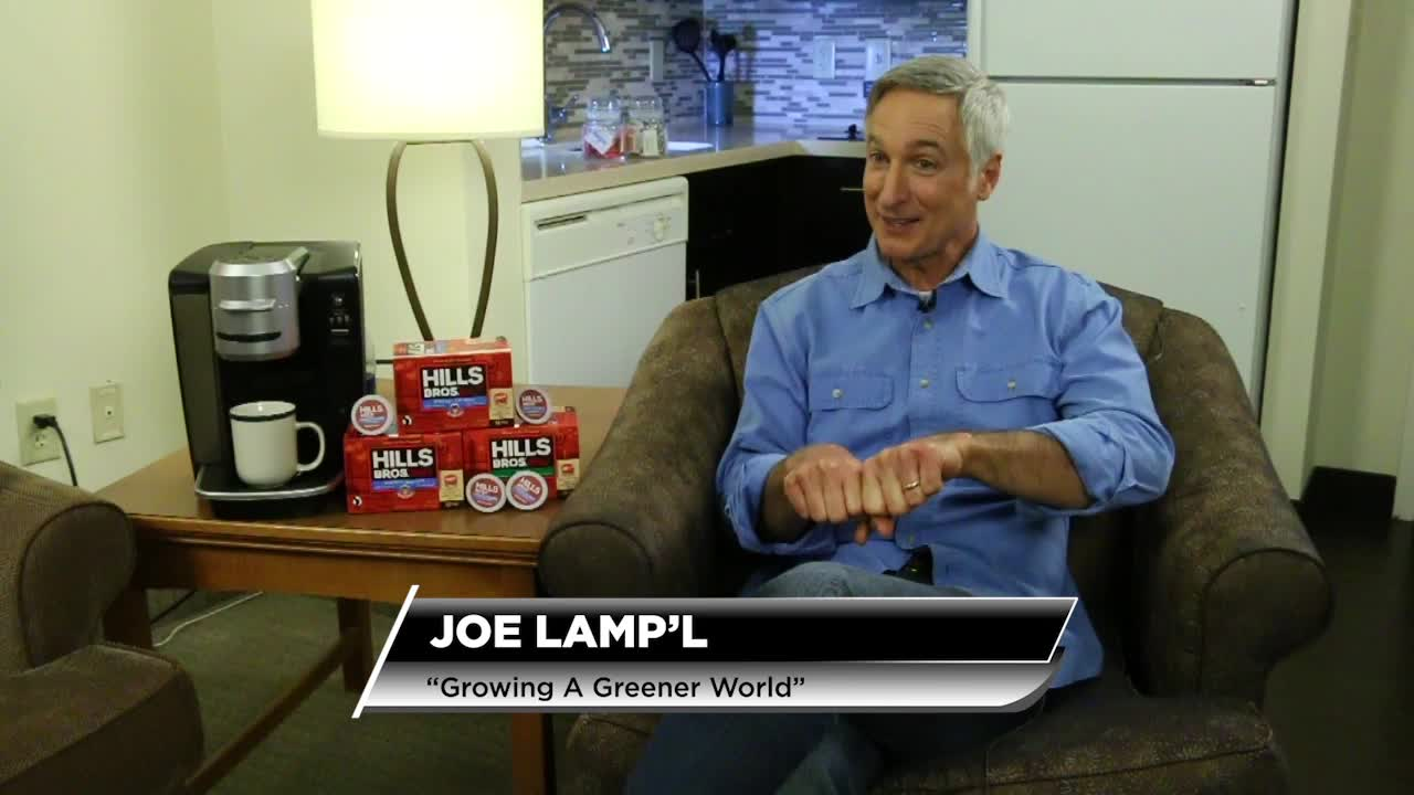 Joe Lamp'l, host of the award-winning PBS series, Growing a Greener World®, discusses a solution to the global issue of single-serve packaging waste – the Earth Day launch of Hills Bros.® Coffee in the world's first BPI certified 100% compostable single-serve coffee pods.