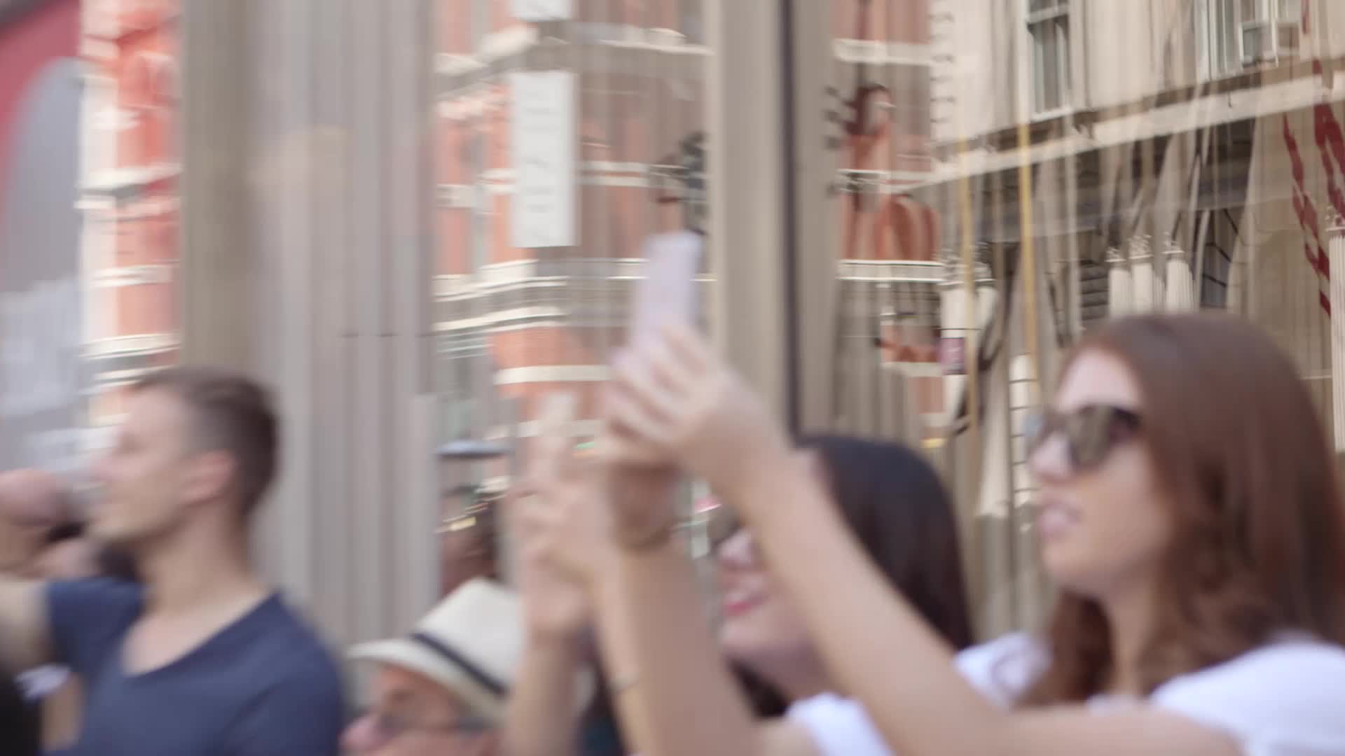 """Flash Mob Of Harry Potter Fans -- """"Muggle Mob"""" -- Stops Traffic At Scholastic Headquarters In New York City"""