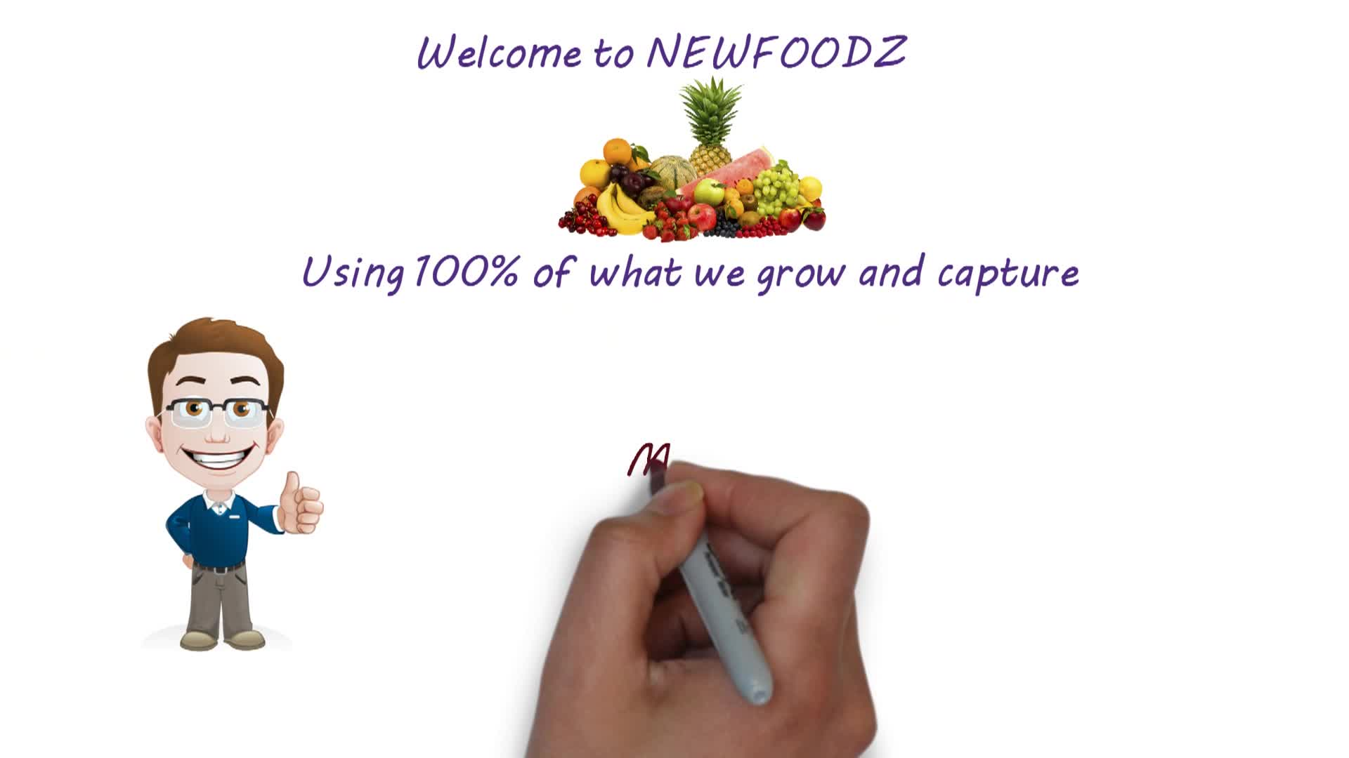 Animated whiteboard introduction to NewfoodZ