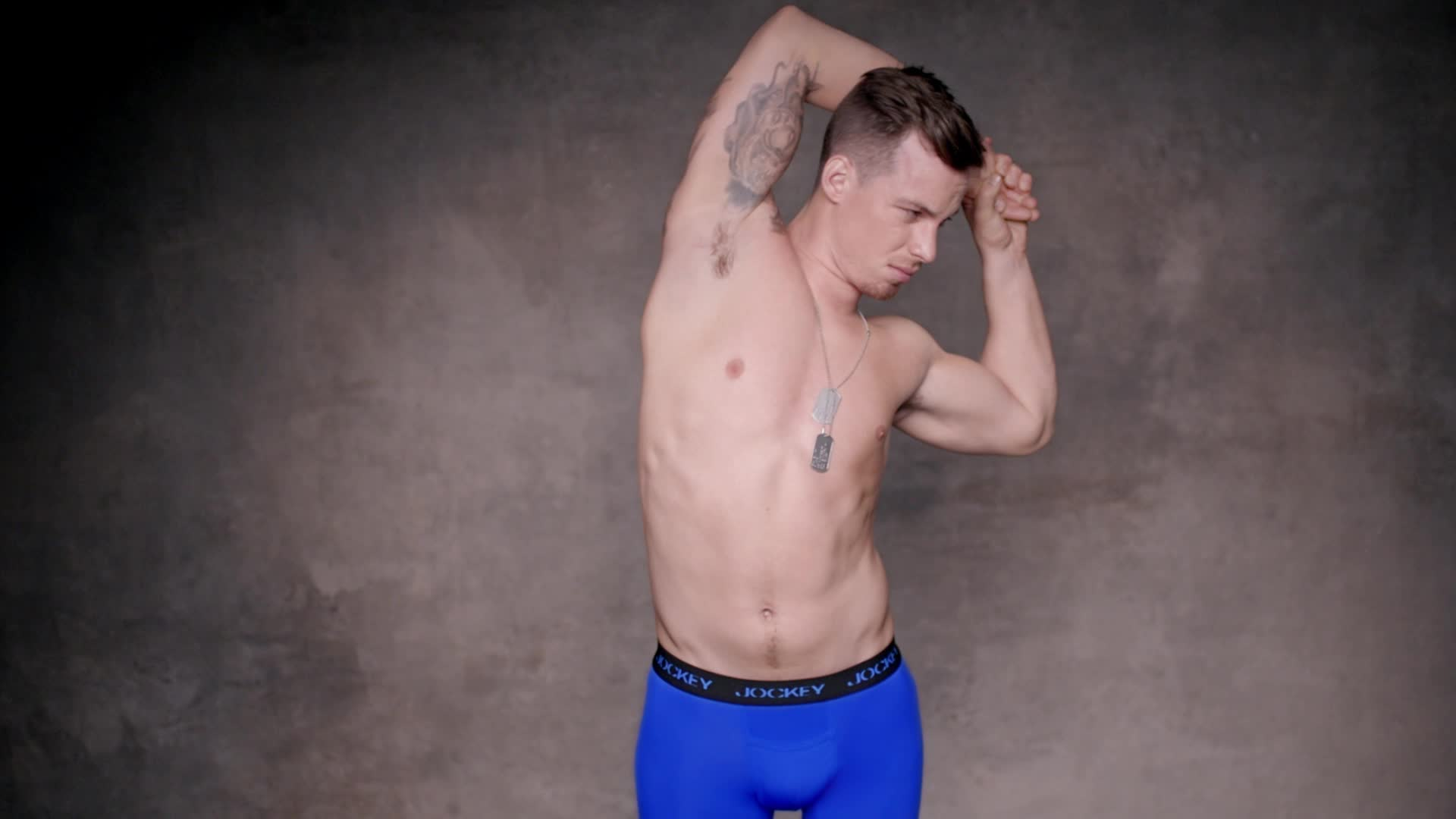 "Chris Van Etten appears in the new Jockey campaign ""Show 'Em What's Underneath."""