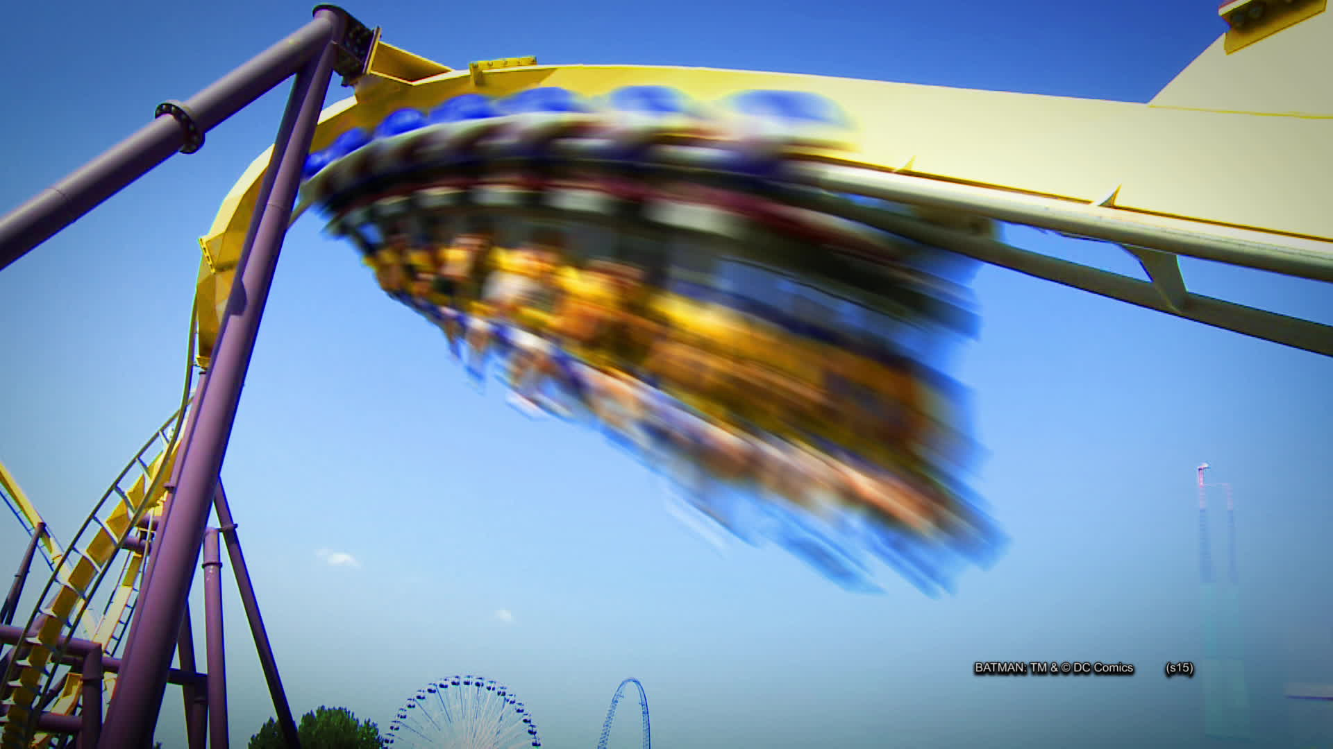 BATMAN™: The Ride Flips Backwards for a Limited Time This Summer at Six Flags Great Adventure.