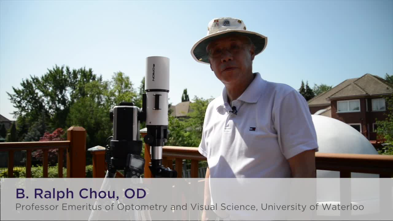 B. Ralph Chou, OD, Solar Eclipse Telescope Setup