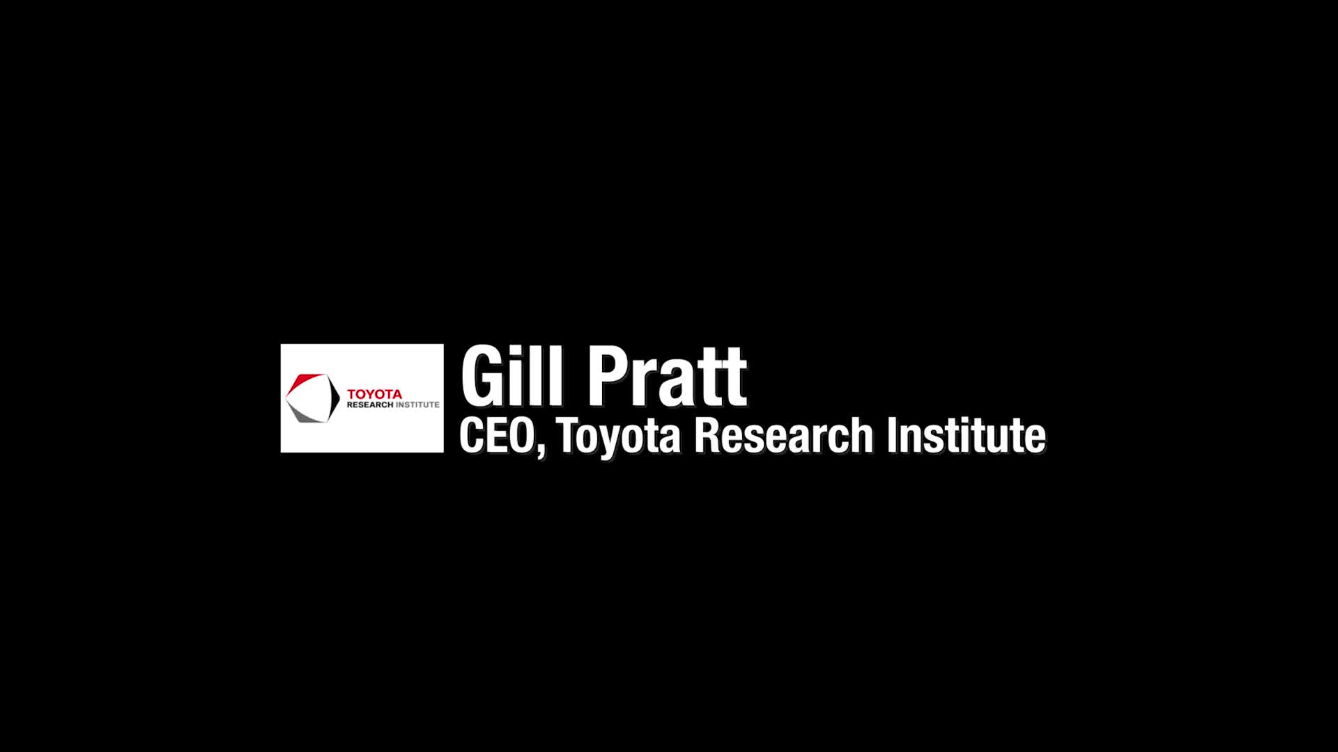 Toyota Research Institute and investment company partners b-roll video soundbites.