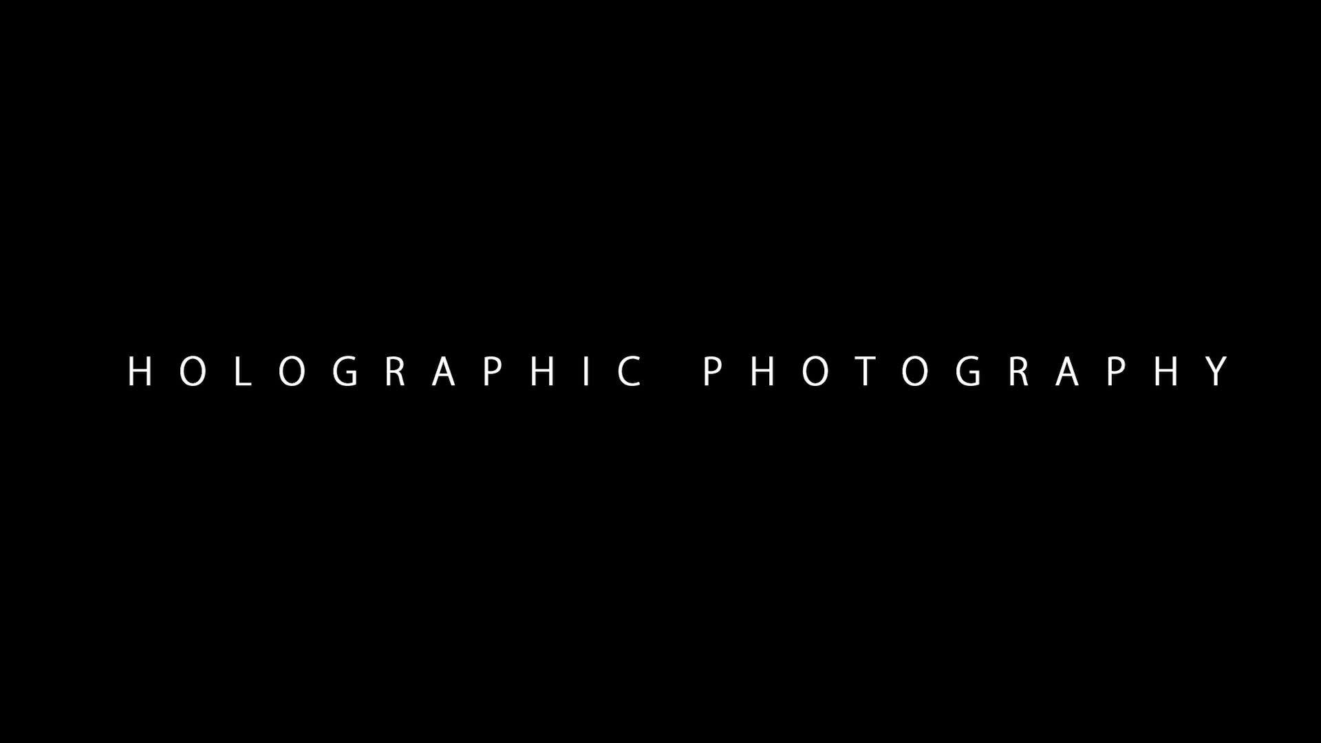 Uncorporeal Holographic Photography Demo.