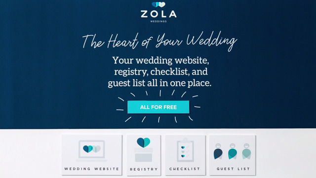 Click here to see a short video of what Zola Weddings offers.