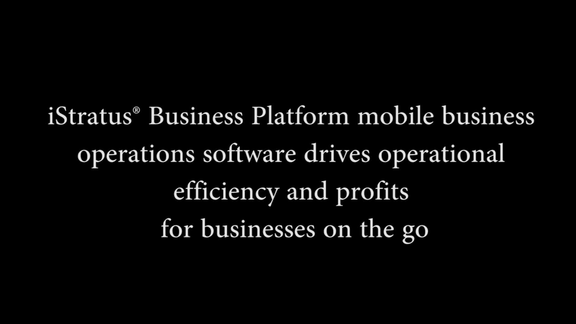 iStratus Business Platform: Enabling a new wave of mobile business products to be developed and delivered affordably, bypassing the need for expensive enterprise software.