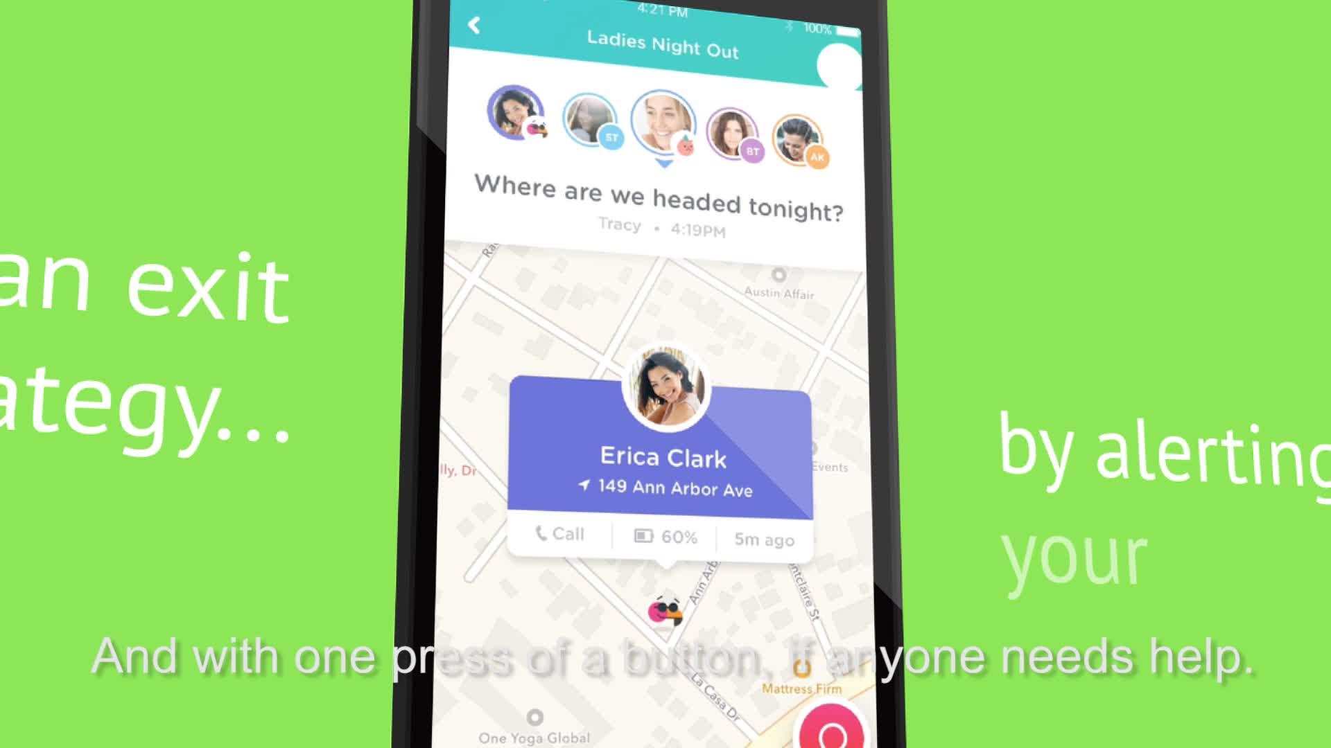 "bthere is a free smartphone app that helps friends stay connected. An all-in-one communication tool for bringing friends together through geolocation tracking and in-app messaging, the unique interface syncs all of your activities together and fits seamlessly into your life. bthere is the app ""For a better whatever, together."""